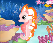 Cute seahorse dress up online játék