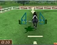 Show jumping 3D lovas játék